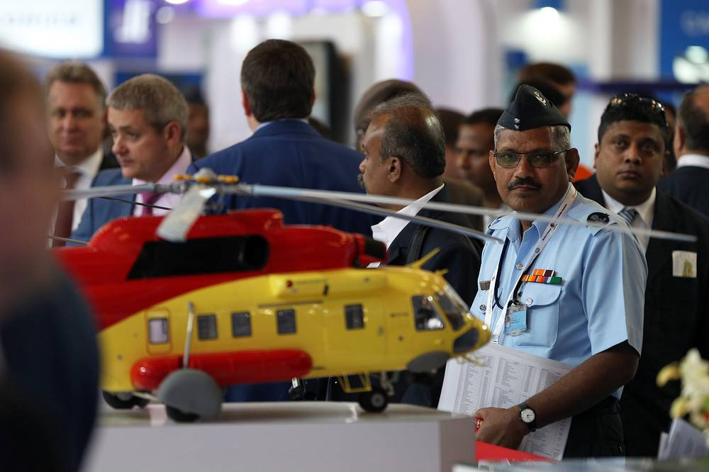 Russian Helicopters' stand at Aero India 2015