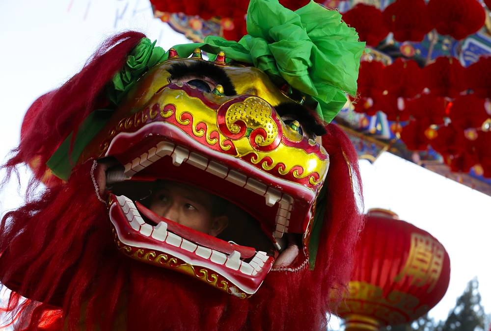 Opening of Ditan Temple Fair on the Lunar New Year's Eve in Beijing, China
