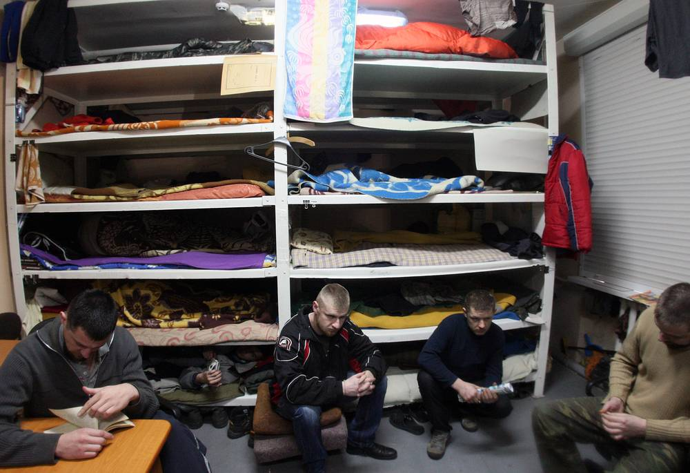 Ukrainian war prisoners in Debaltsevo