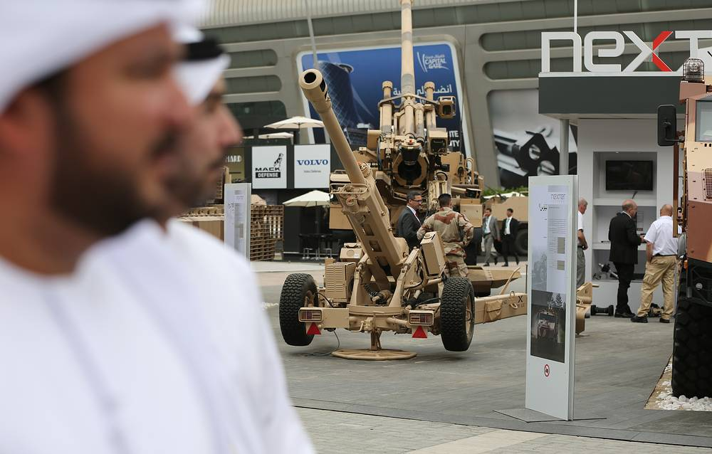 Emirati officials visiting the IDEX-2015