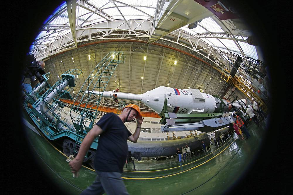 The Soyuz FG rocket booster with the Soyuz TMA 17M spaceship carrying ISS Expedition 44 crew is scheduled to be launched on 23 July, 2015