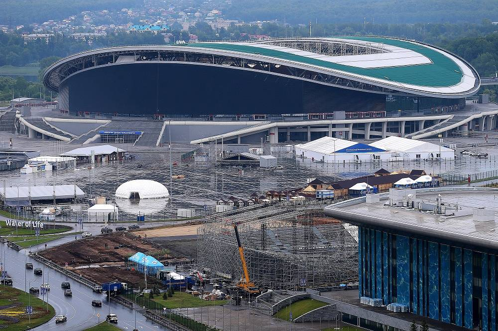 The newly-built 45,000-seat capacity Kazan-Arena was opened in 2013