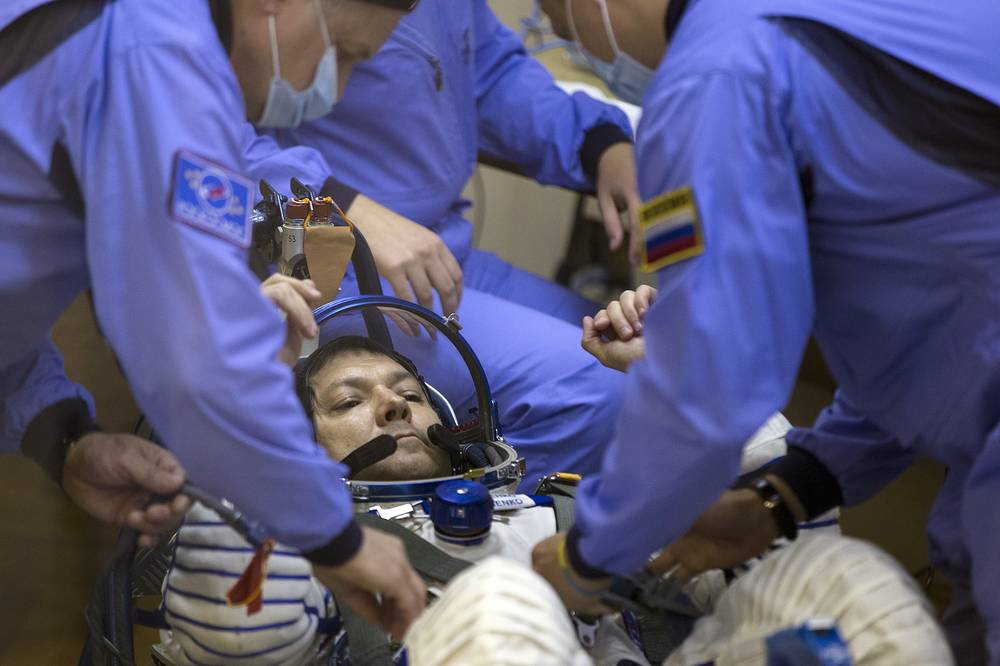 For Kononenko, 51, this is a third orbital mission in his career of a space researcher. He has already spent 391 days in space and has done three spacewalks
