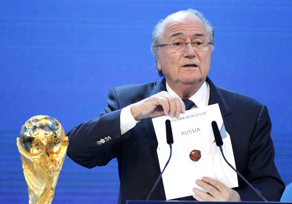 FIFA President Joseph Blatter will make a welcoming speech to the participants of the FIFA 2018 World Cup Preliminary Draw