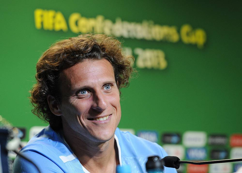The best player of the World Cup 2010 Uruguay's Diego Forlan