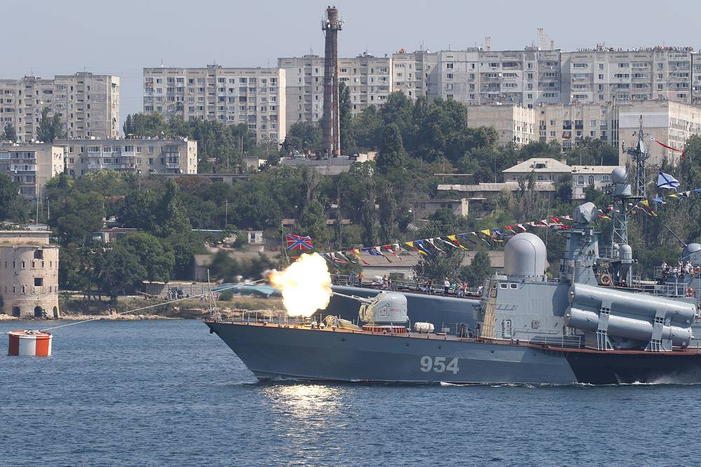 Russian Navy Day parade in Sevastopol