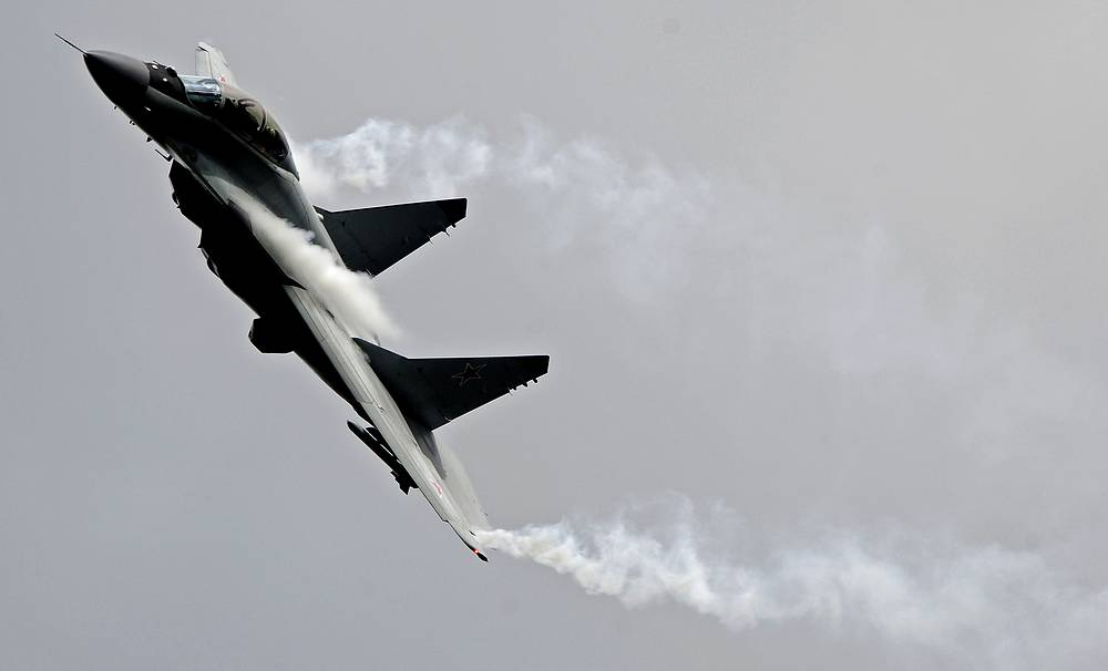 MiG-35 is classified as a 4++ generation jet fighter. At present, MiG-35 is regarded as a transitional stage to the fifth generation fighter. It's maximum speed is 2,400 km/h