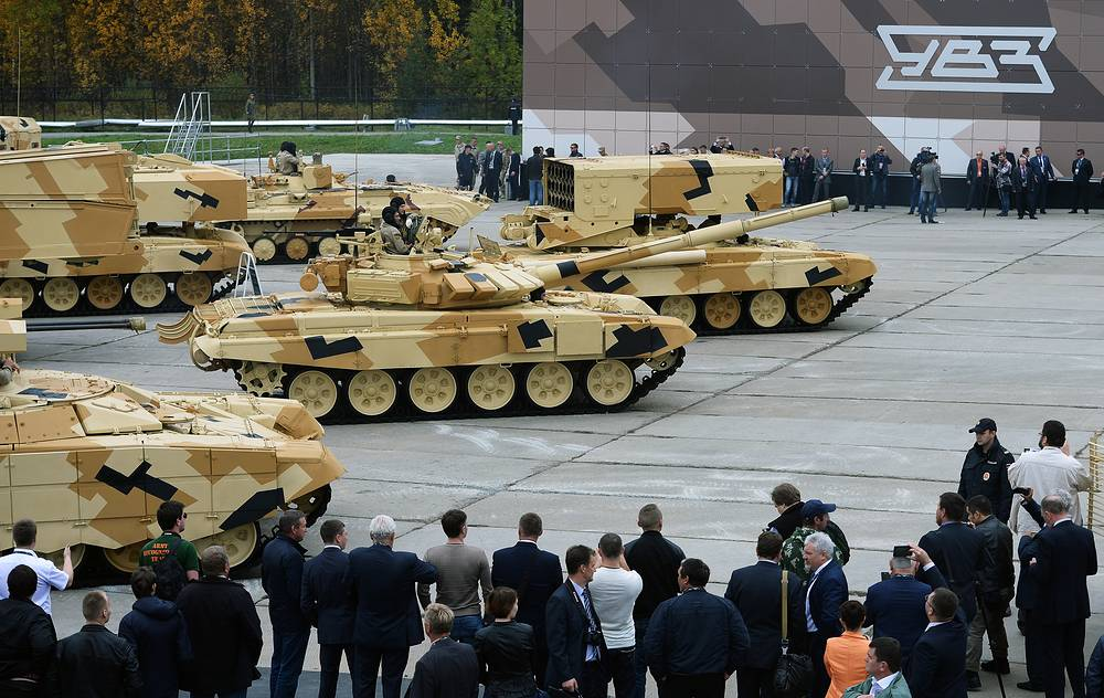 Military hardware produced by Uralvagonzavod machine building company