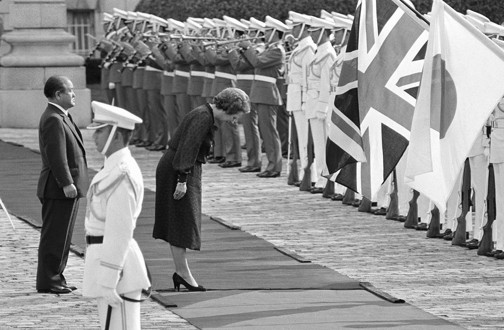 """I don't mind how much my ministers talk, as long as they do what I say,"" British Prime Minister Margaret Thatcher said. Photo: Thatcher during her visit to Japan, 1982"