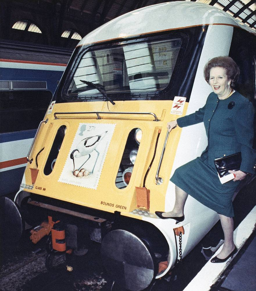 Thatcher became a peer in the House of Lords in 1992 with a life peerage as Baroness Thatcher. Photo: Margaret Thatcher at London's King's Cross railway, 1989