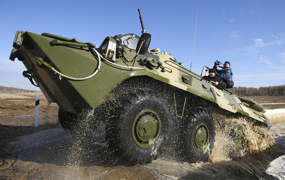 BTR-80 Russian amphibious armoured personnel carrier