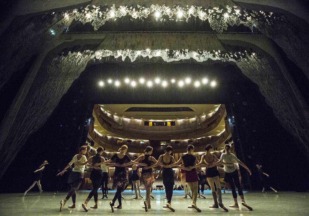 Swan Lake ballet rehearsal at the Mariinsky Theater Second Stage