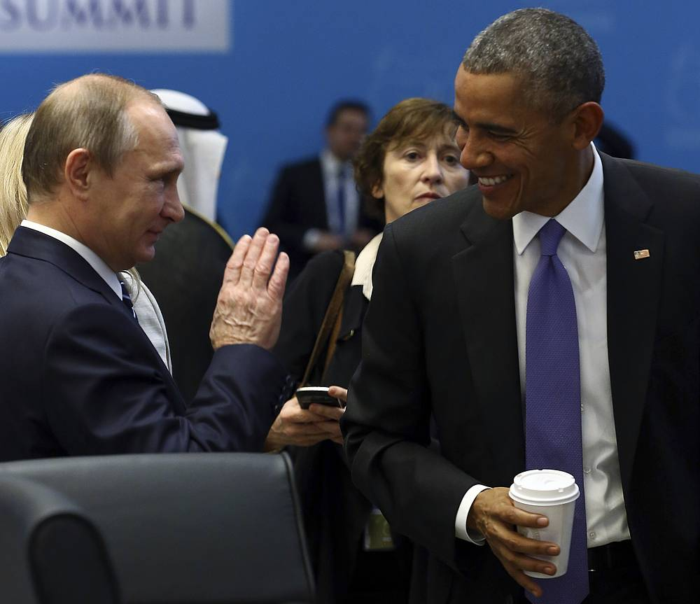 US President Barack Obama and Russian President Vladimir Putin