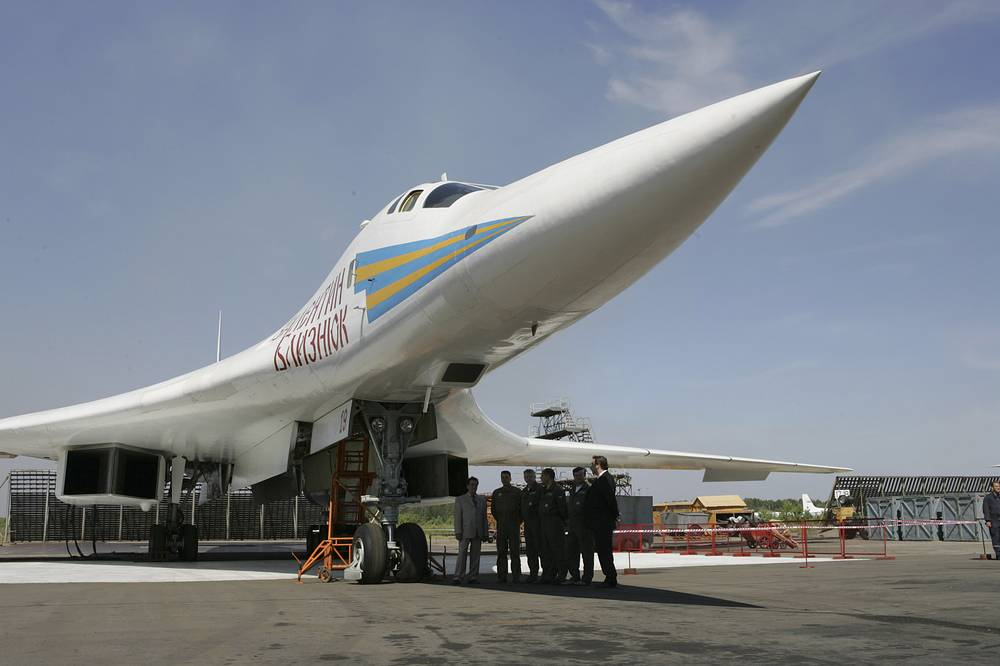 Tu-160 is the world's largest combat aircraft and largest supersonic aircraft built