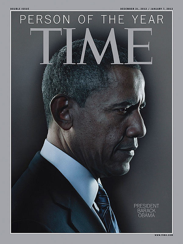 """Barack Obama was named Time magazine's Person of the Year for 2012. The publication called Obama """"the architect of this new America"""""""