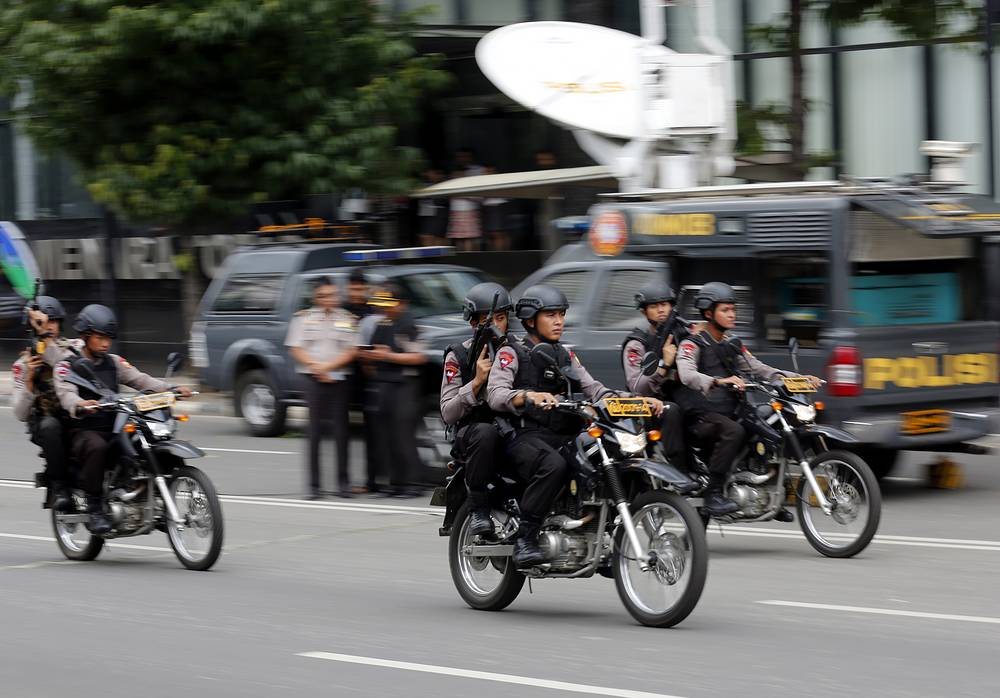Members of the Indonesian police