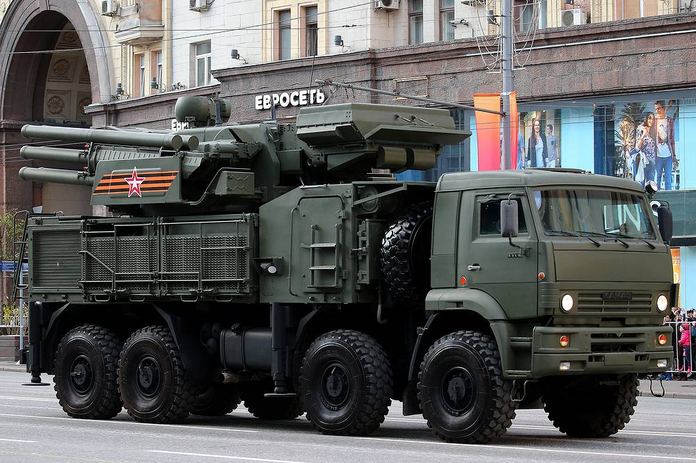Pantsir S-1 short range air defense system on Kamaz chassis