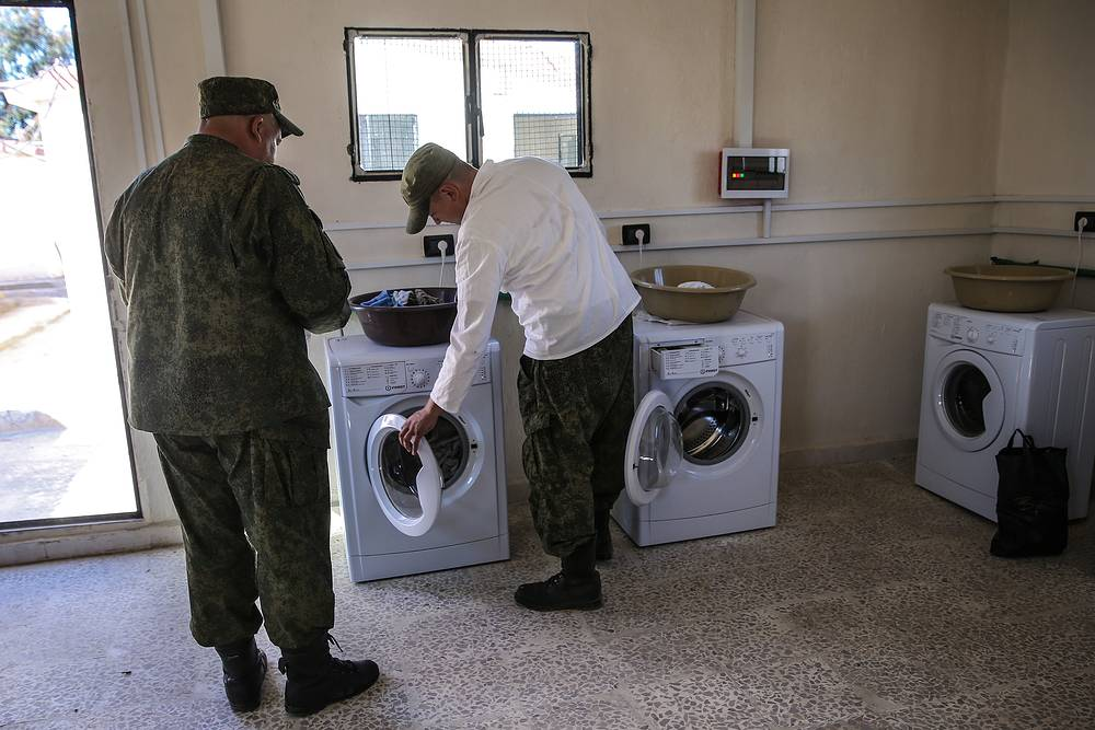 Laundry room at the airbase
