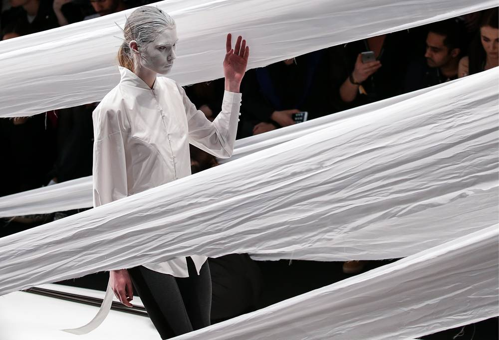 A runway show for the Dimaneu Fashion Brand's collection