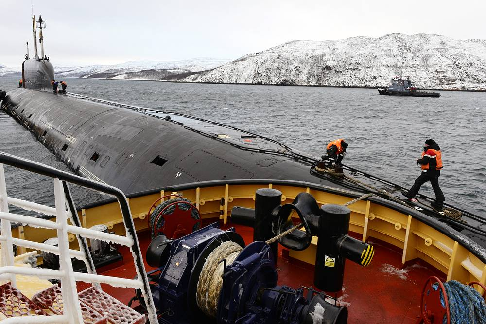 Russian Northern Fleet's Yasen-class Severodvinsk nuclear submarine, Project 885