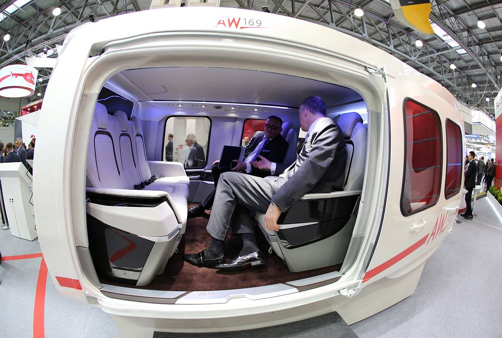 Interior design of AgustaWestland AW169 helicopter
