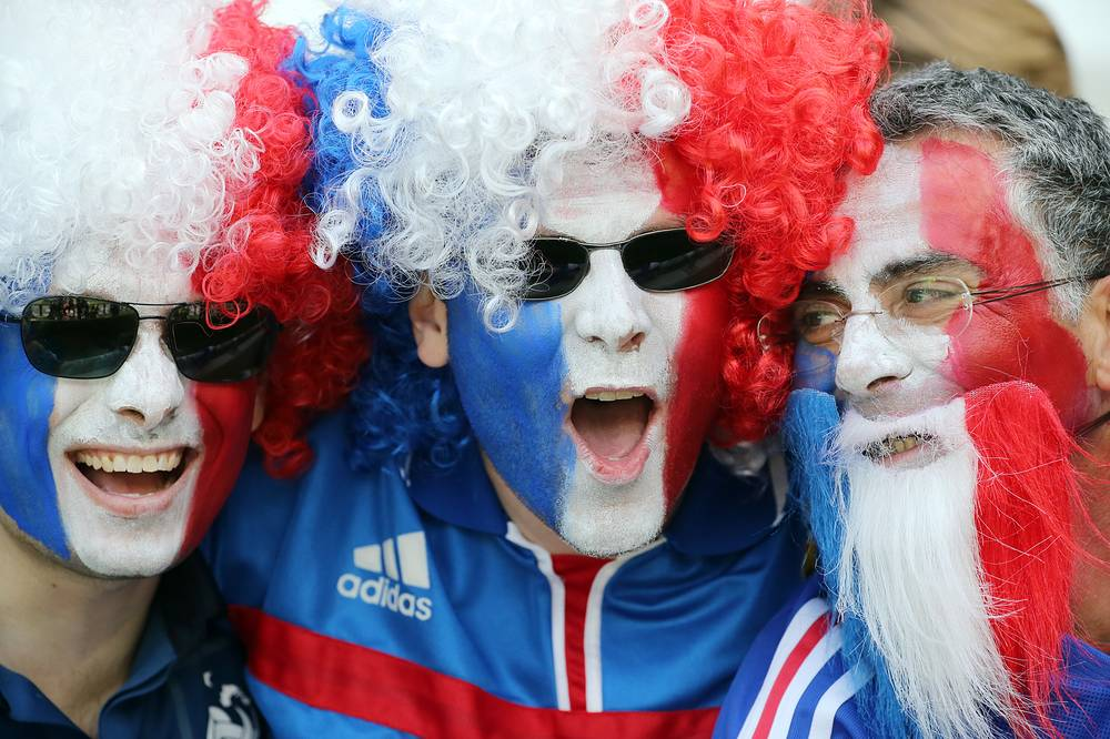 French fans at the football match between France and Ireland, 26 June 2016