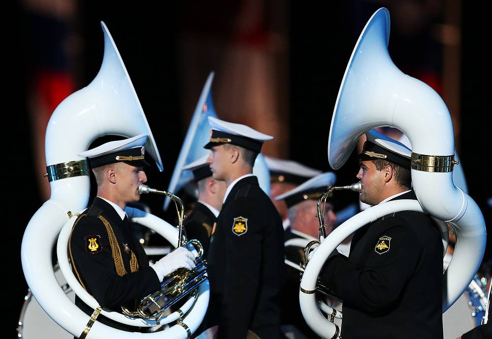 Members of the Central Band of the Navy named after N.A. Rimsky-Korsakov of Russia