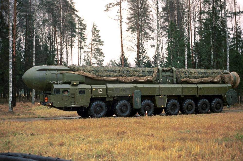 RS-12M Topol missile system (NATO reporting name: SS-25 Sickle