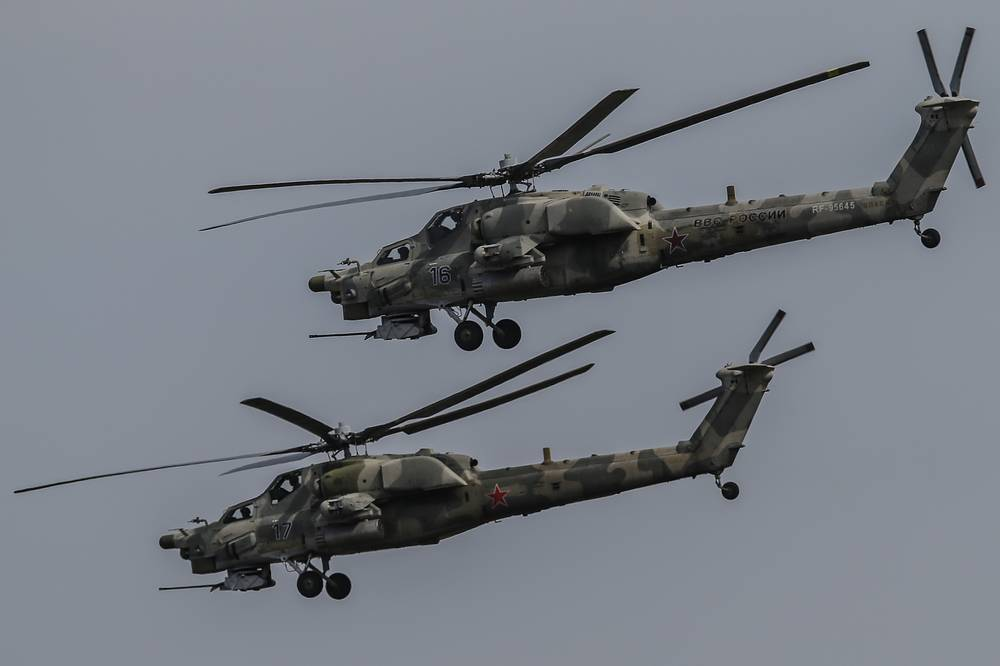 Mi-28N helicopters