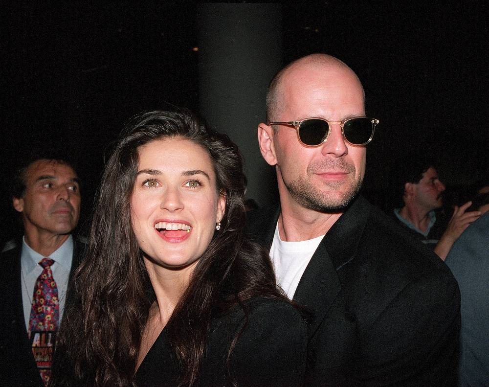 Bruce Willis and Demi Moore divorced in 2000 after 13 years of marriage
