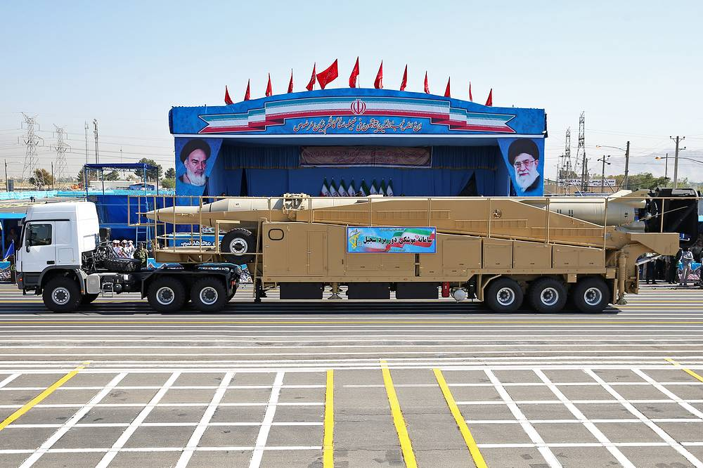Iran's Sejjil, a surface-to-surface, a two-stage, solid-fuel ballistic missile