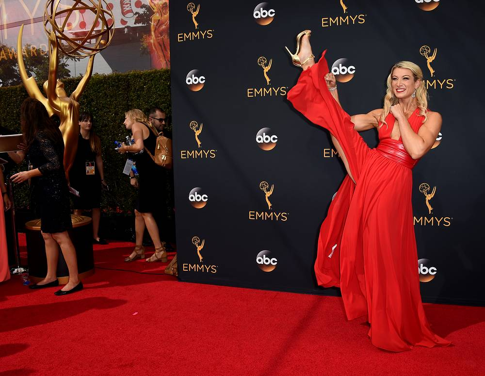 Stuntwoman Jessie Graff at the 68th Emmy Awards  in Los Angele, September 18
