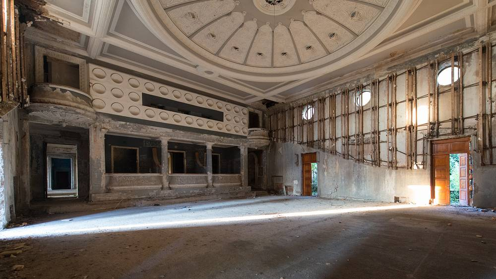 Inside the abandoned Winter Theatre in Gagra