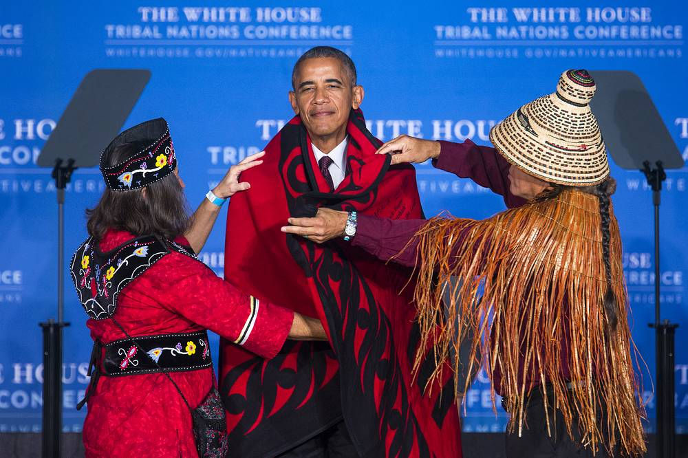 US President Barack Obama at the White House Tribal Nations Conference in Washington, 26 September