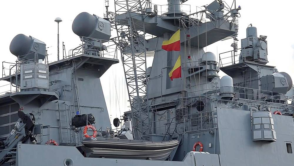 The Admiral Grigorovich frigate prepared to deliver strikes against IS militants in Syria