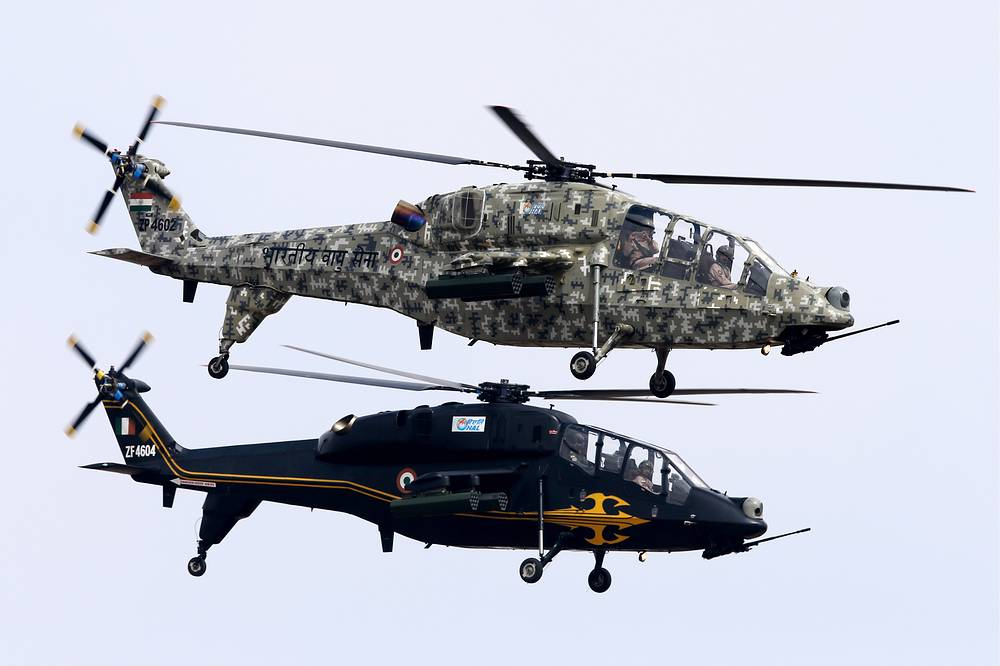 HAL Light Combat Helicopters (LCH), multirole combat helicopters developed by India's Hindustan Aeronautics Limited