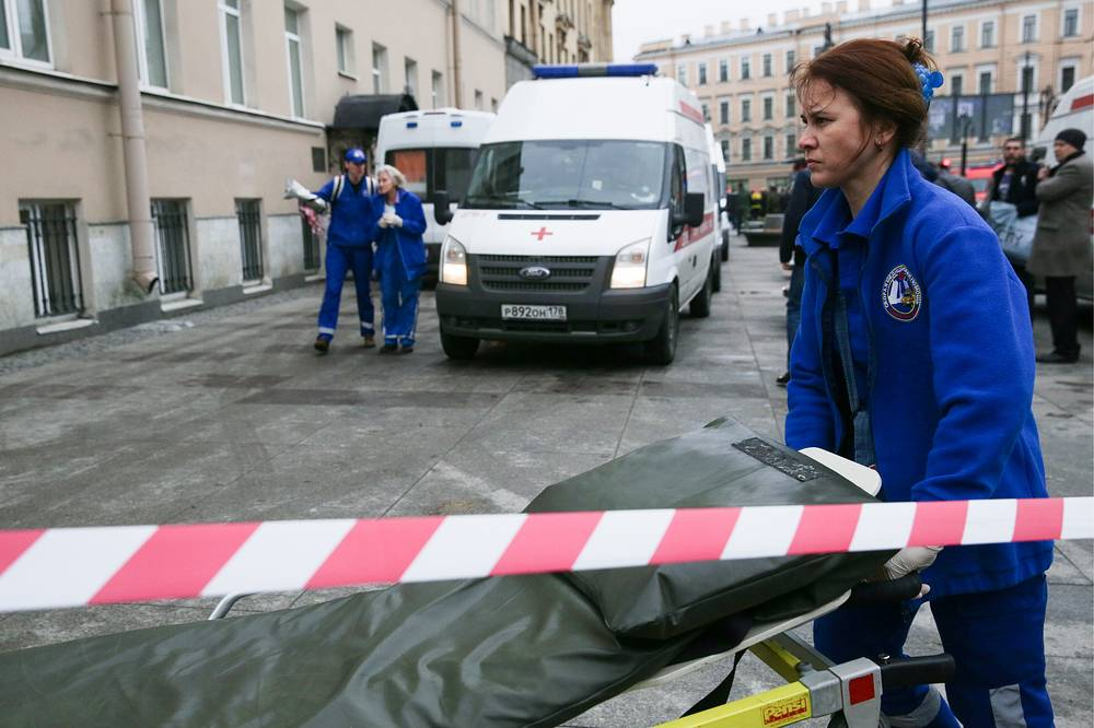 An explosion hit the subway in Russia's second largest city St. Petersburg