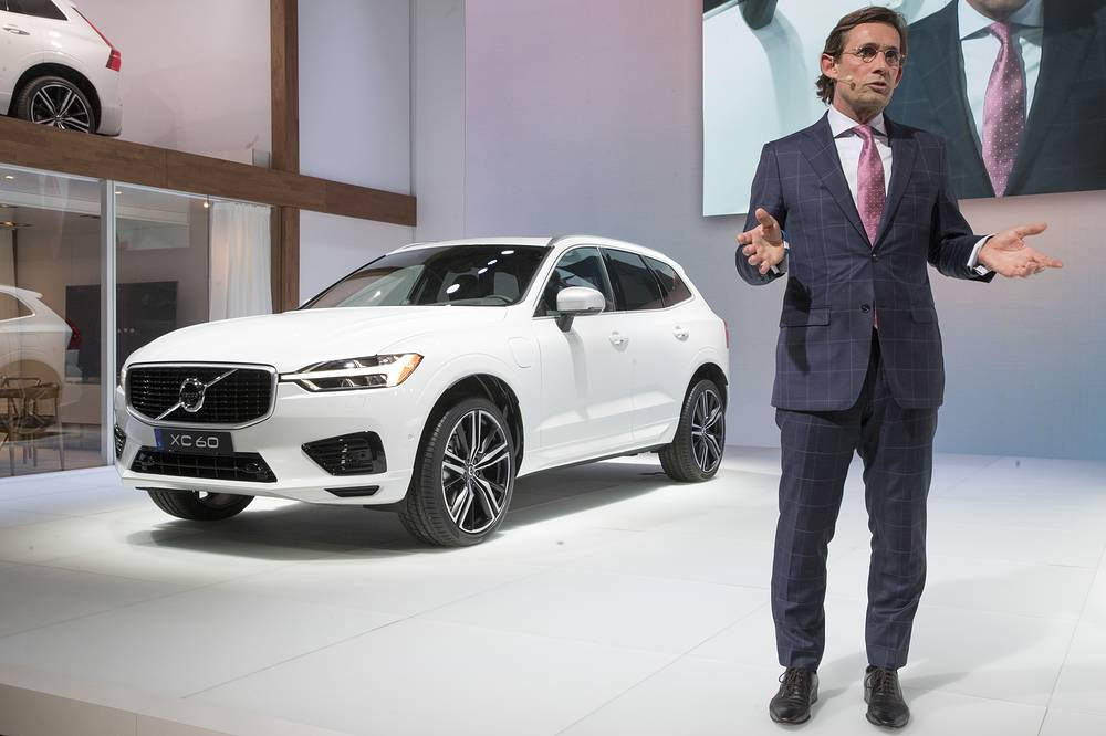 Lex Kerssemakers, president and CEO of Volvo Cars of America, introduces the Volvo XC60