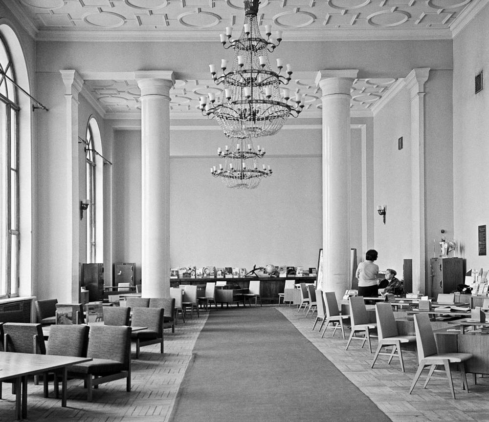 Interior of the Ukraina Hotel, 1966