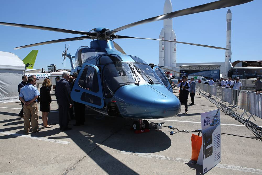 T-625 helicopter produced by Turkish Aerospace Industries