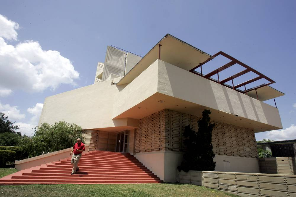 The Annie Pfeiffer Chapel at Florida Southern College in Lakeland,  designed by architect Frank Lloyd Wright