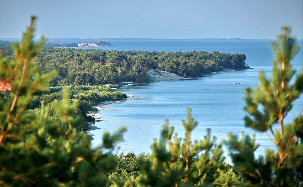 Curonian Spit in Kaliningrad region. Photo: A view from the Epha Height on the Curonian Spit