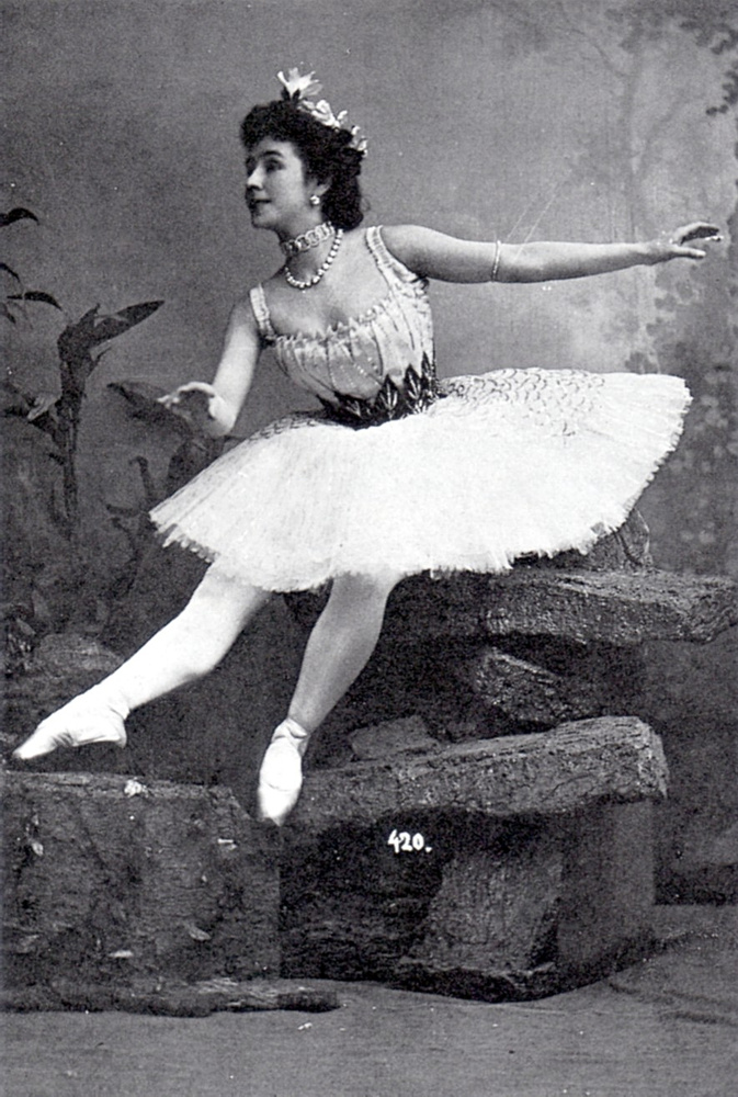Matilda Kshesinskaya (1872-1971) was a Russian ballerina from a family of Polish origin. She was a mistress of the future Tsar Nicholas II of Russia prior to his marriage, and later the wife of his cousin Grand Duke Andrei Vladimirovich of Russia