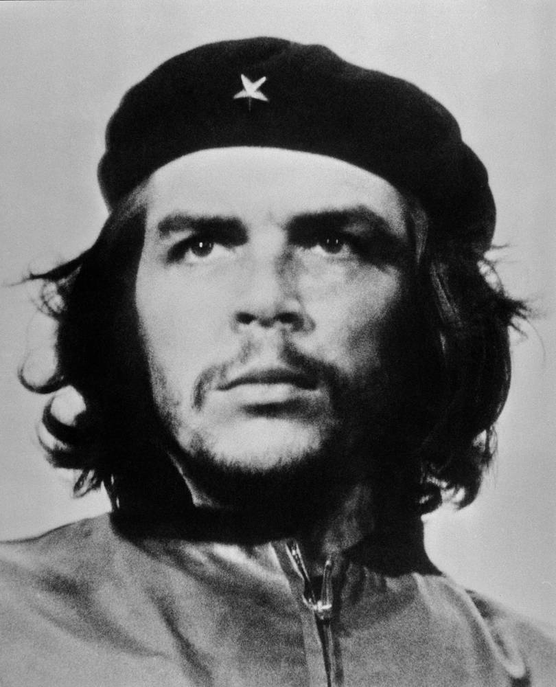 Latin American revolutionary Ernesto Che Guevara is a national hero in Cuba where his image adorns the three peso banknote and is iconic figure whose image became a symbol of protest