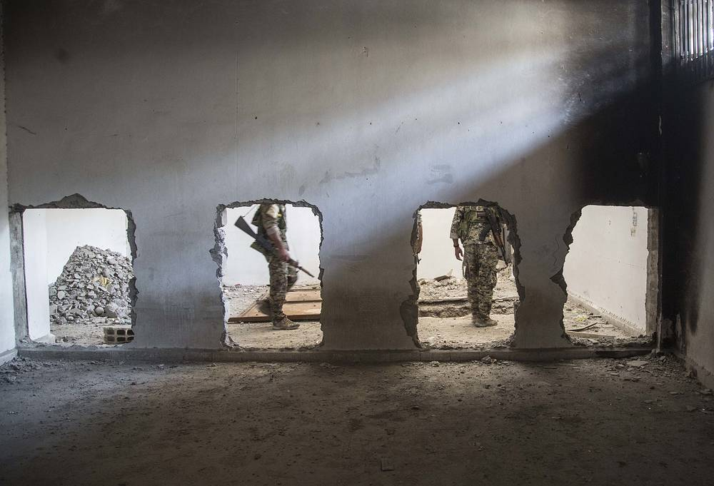 Inside the stadium that was the site of Islamic State fighters' last stand in Raqqa