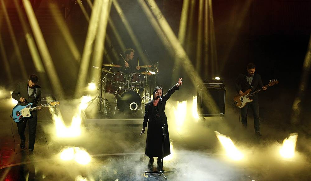 The Cranberries perform in Sanremo, Italy, 2012