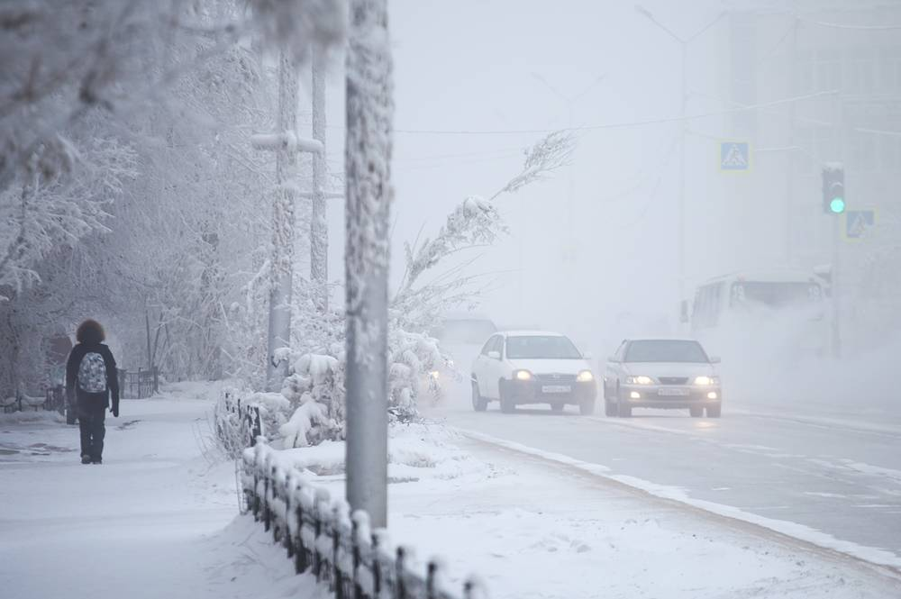 Yakutsk is located about 450 kilometers south of the Arctic Circle