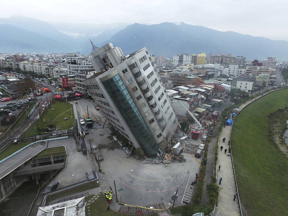 A magnitude 6.4 earthquake hit Taiwan's east coast on the night of February 6