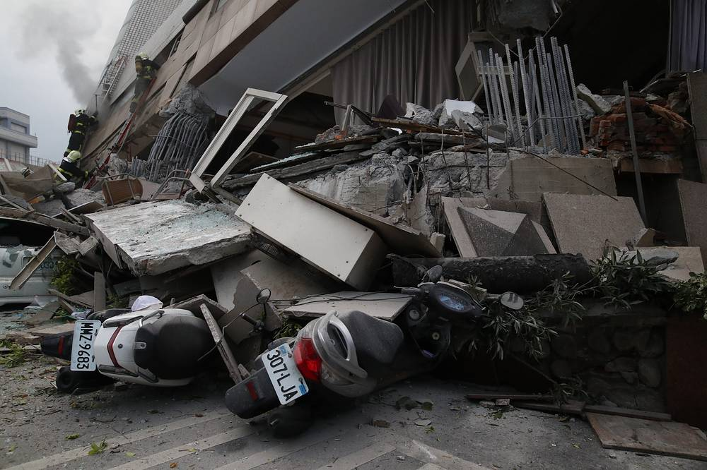 Taiwan has frequent earthquakes due to its position along the Ring of Fire, a major area in the basin of the Pacific Ocean where a large number of earthquakes and volcanic eruptions occur