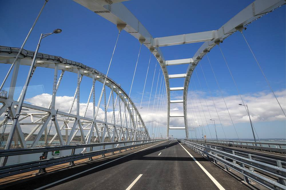 A view of Kerch Strait Bridge